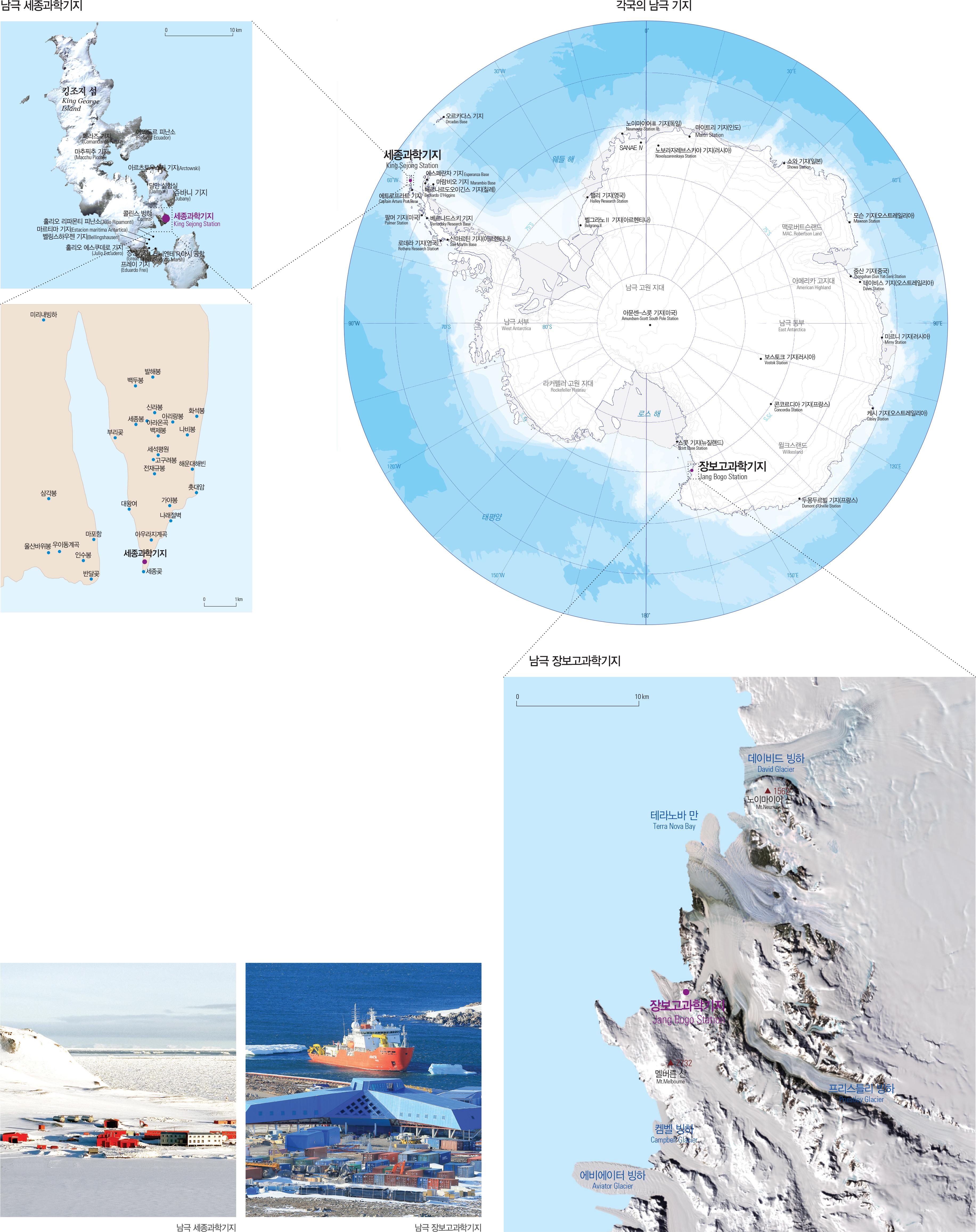 각국의 남극 기지