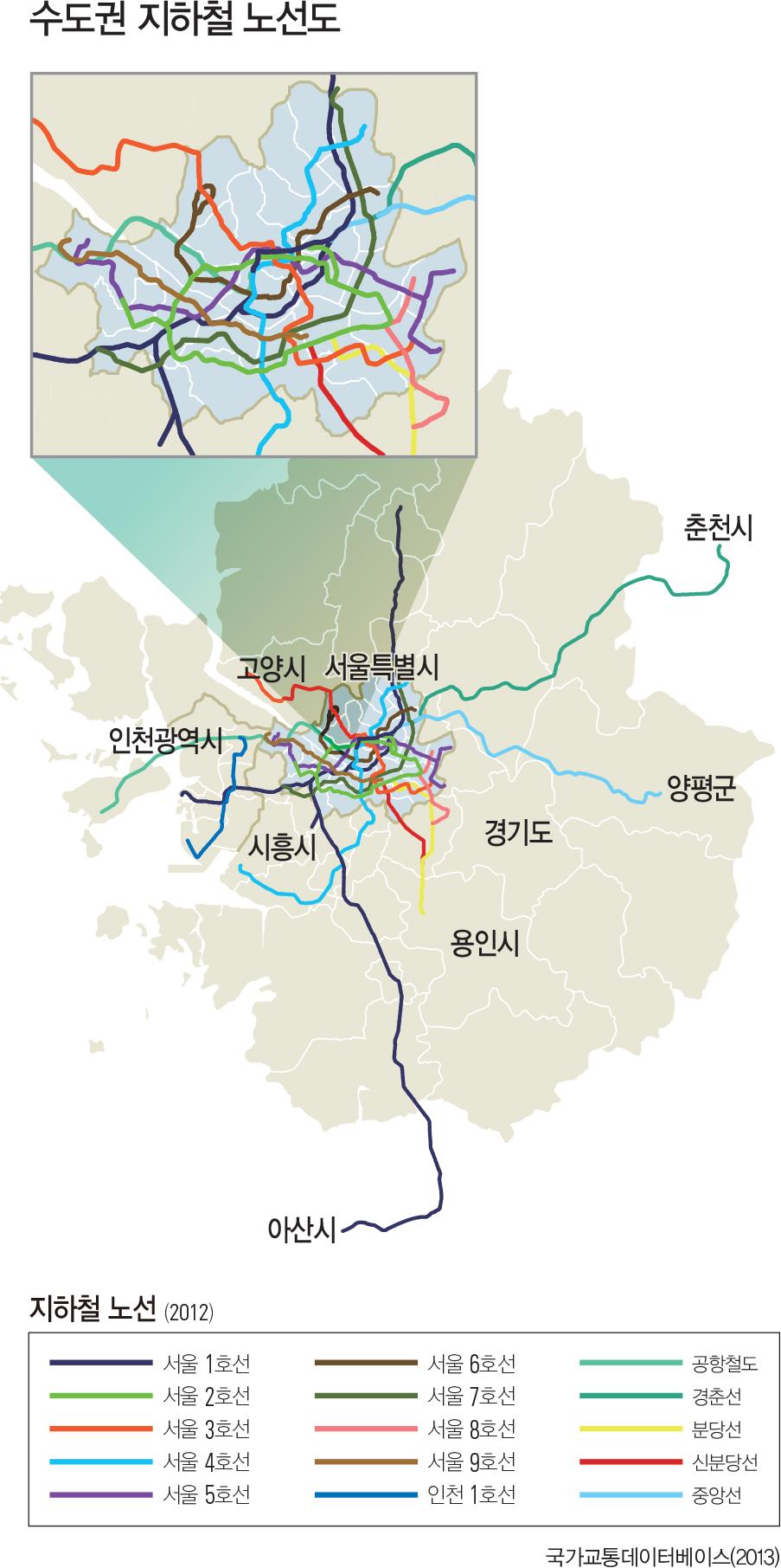 수도권 지하철 노선도