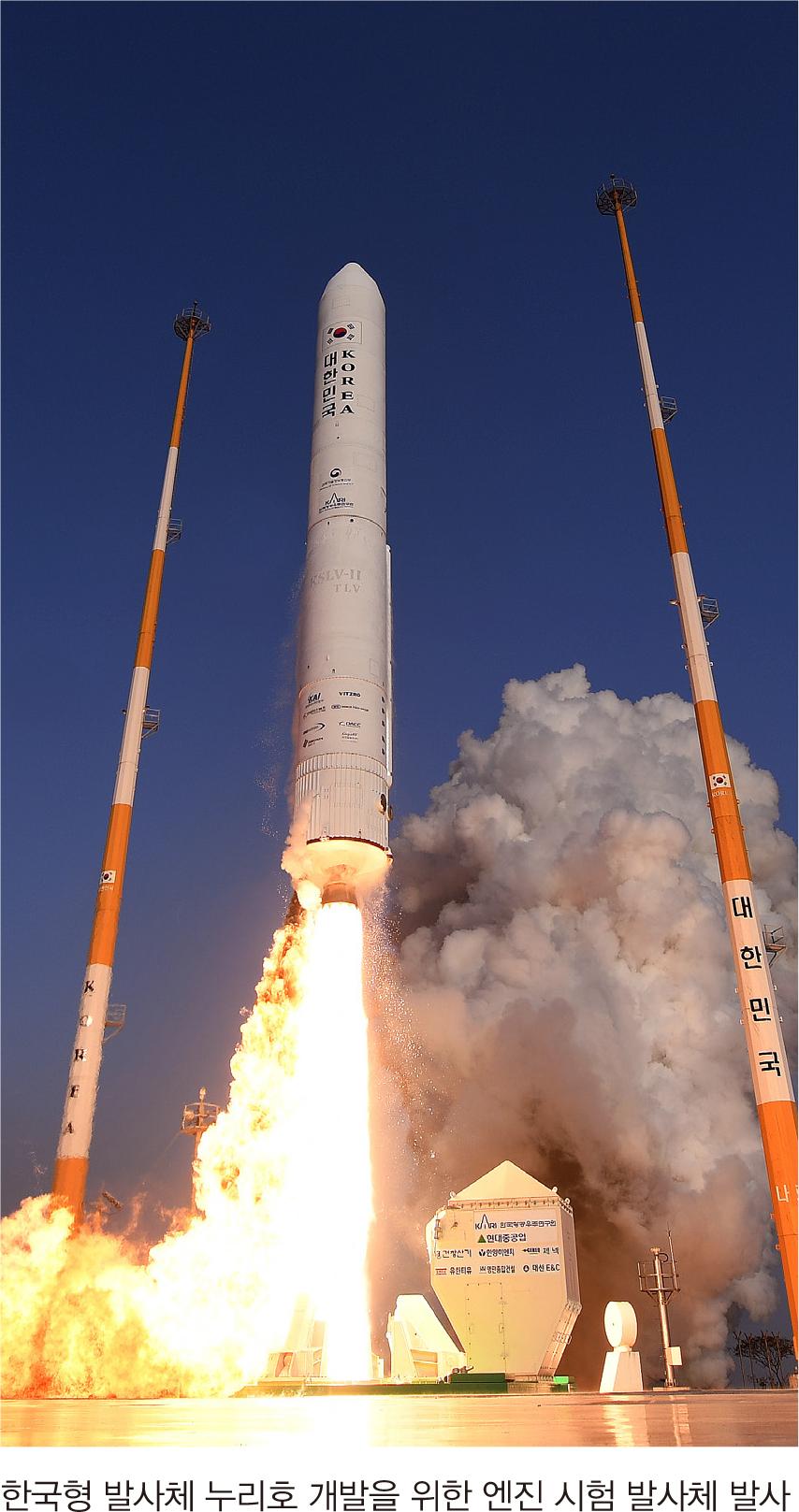 한국형 발사체 누리호 개발을 위한 엔진 시험 발사체 발사