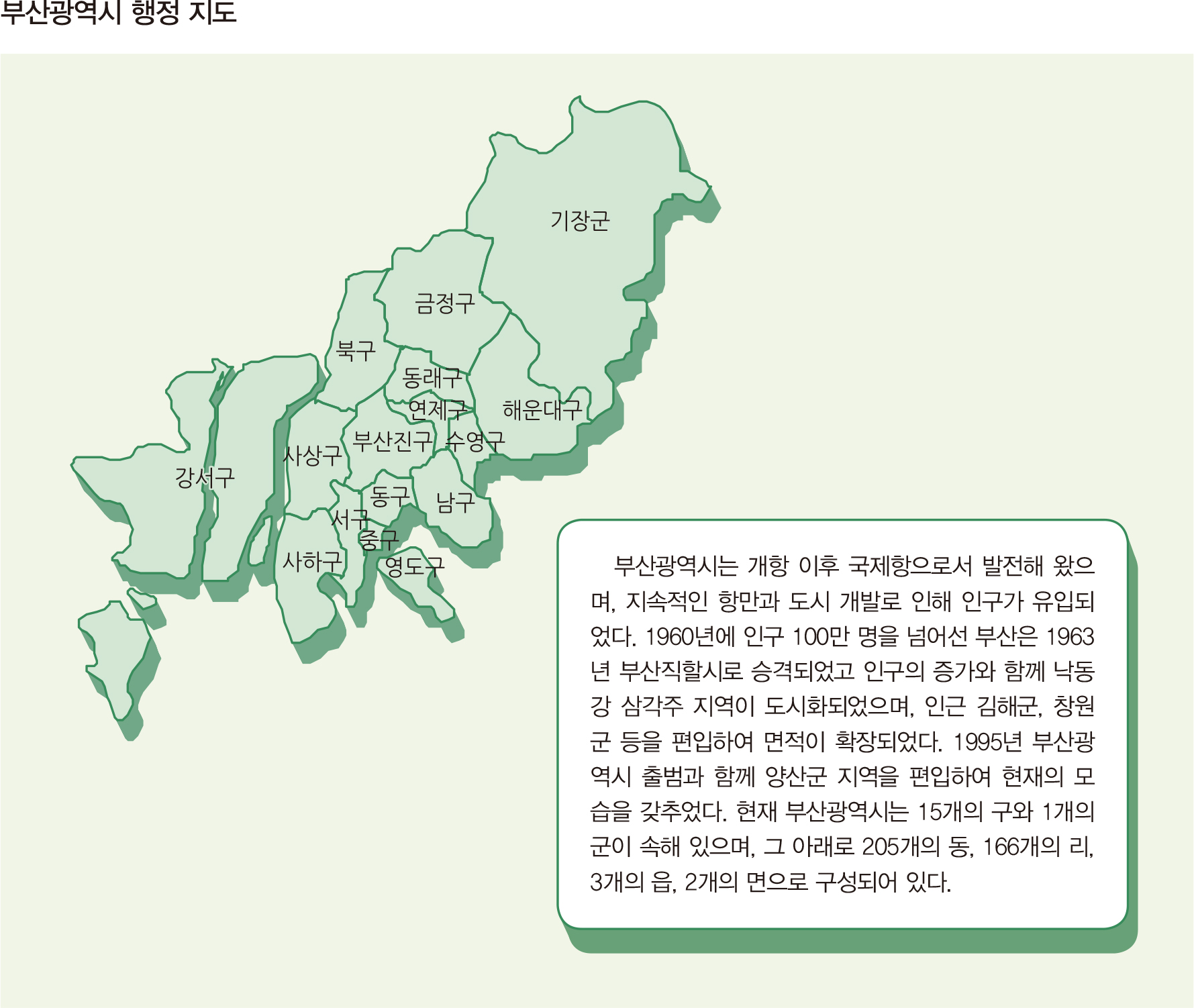 부산광역시 행정 지도