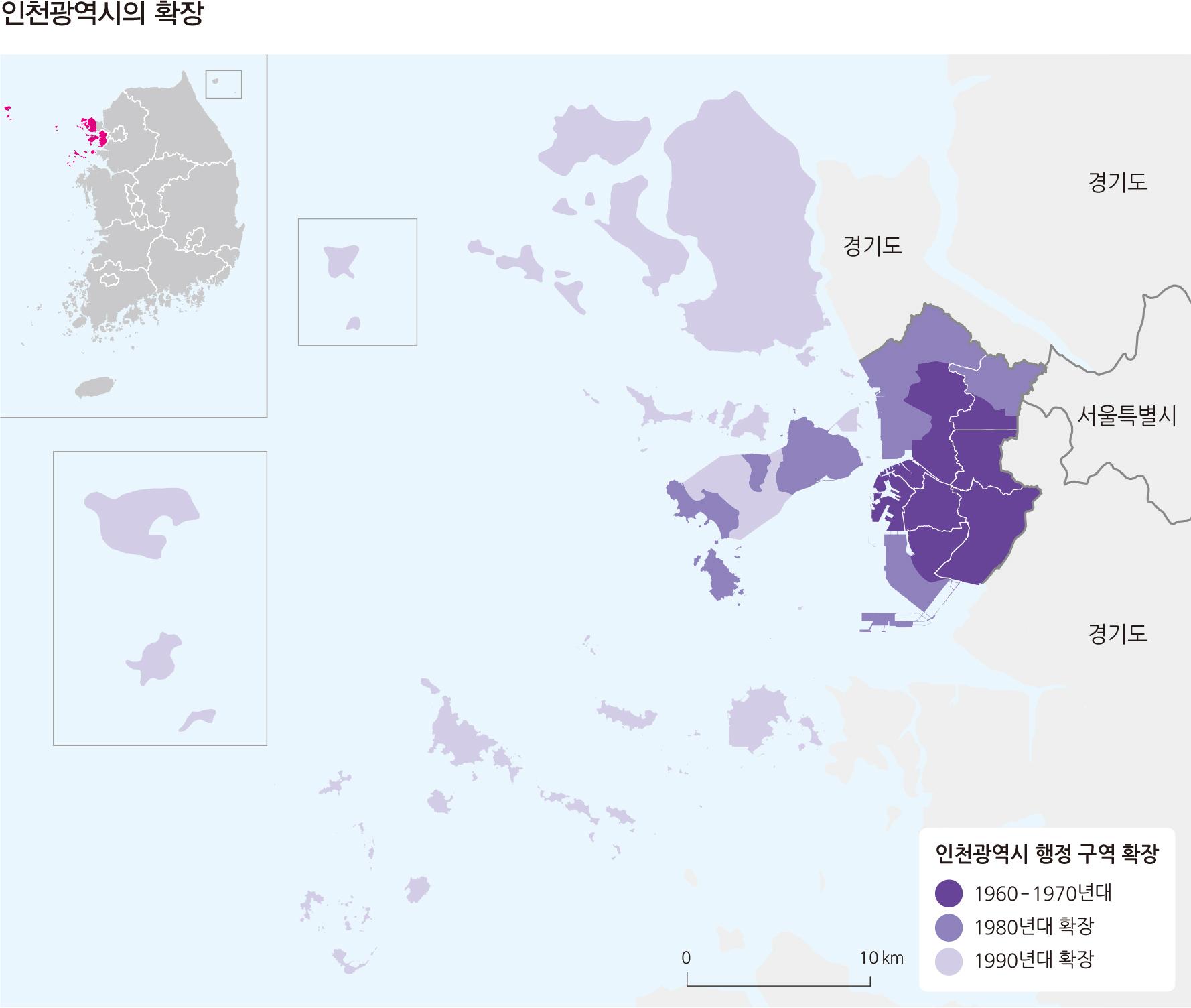 인천광역시의 확장