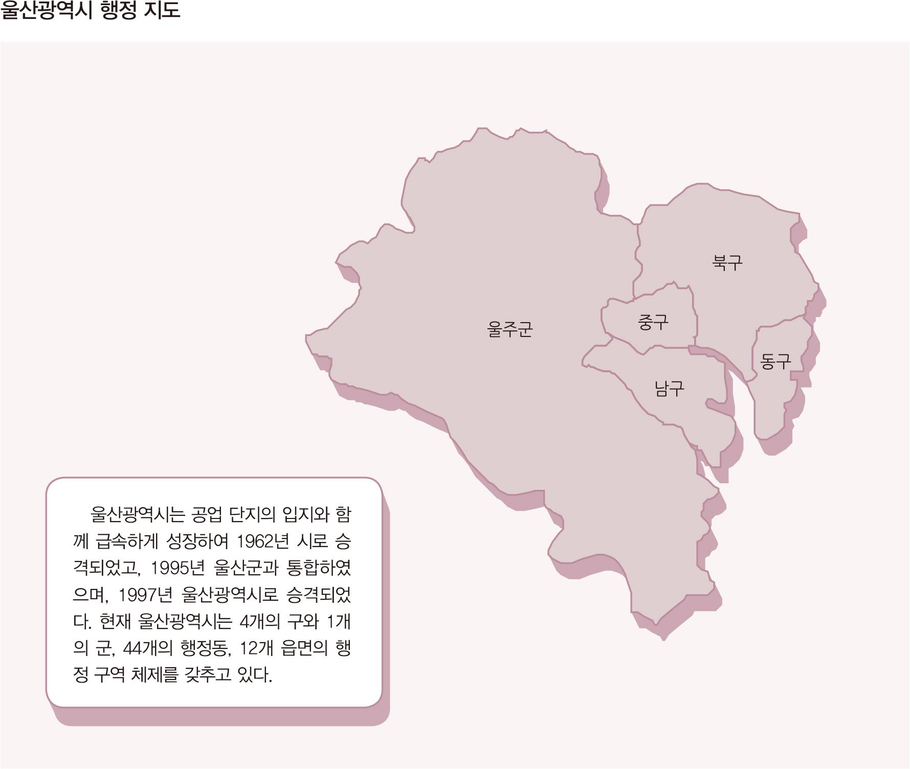 울산광역시 행정 지도