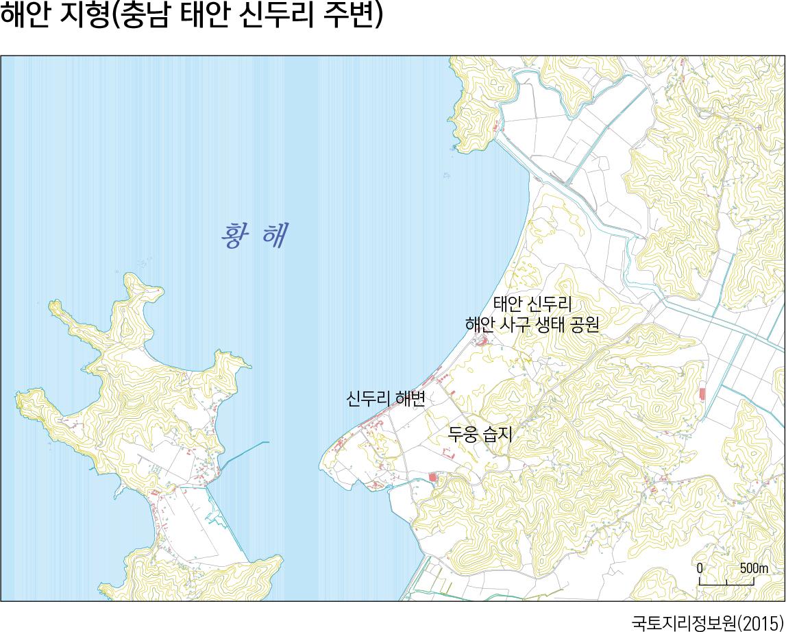 해안 지형(충남 태안 신두리 주변)