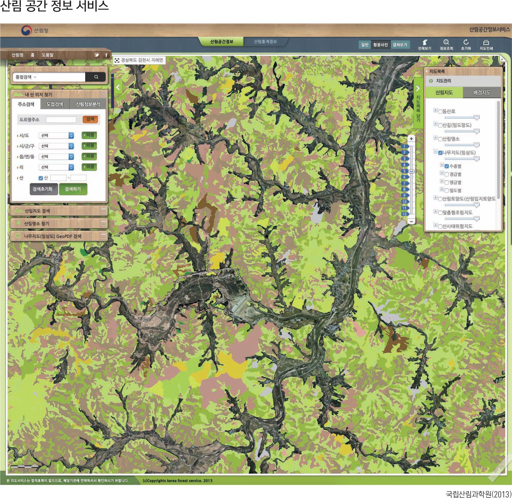 산림공간정보서비스