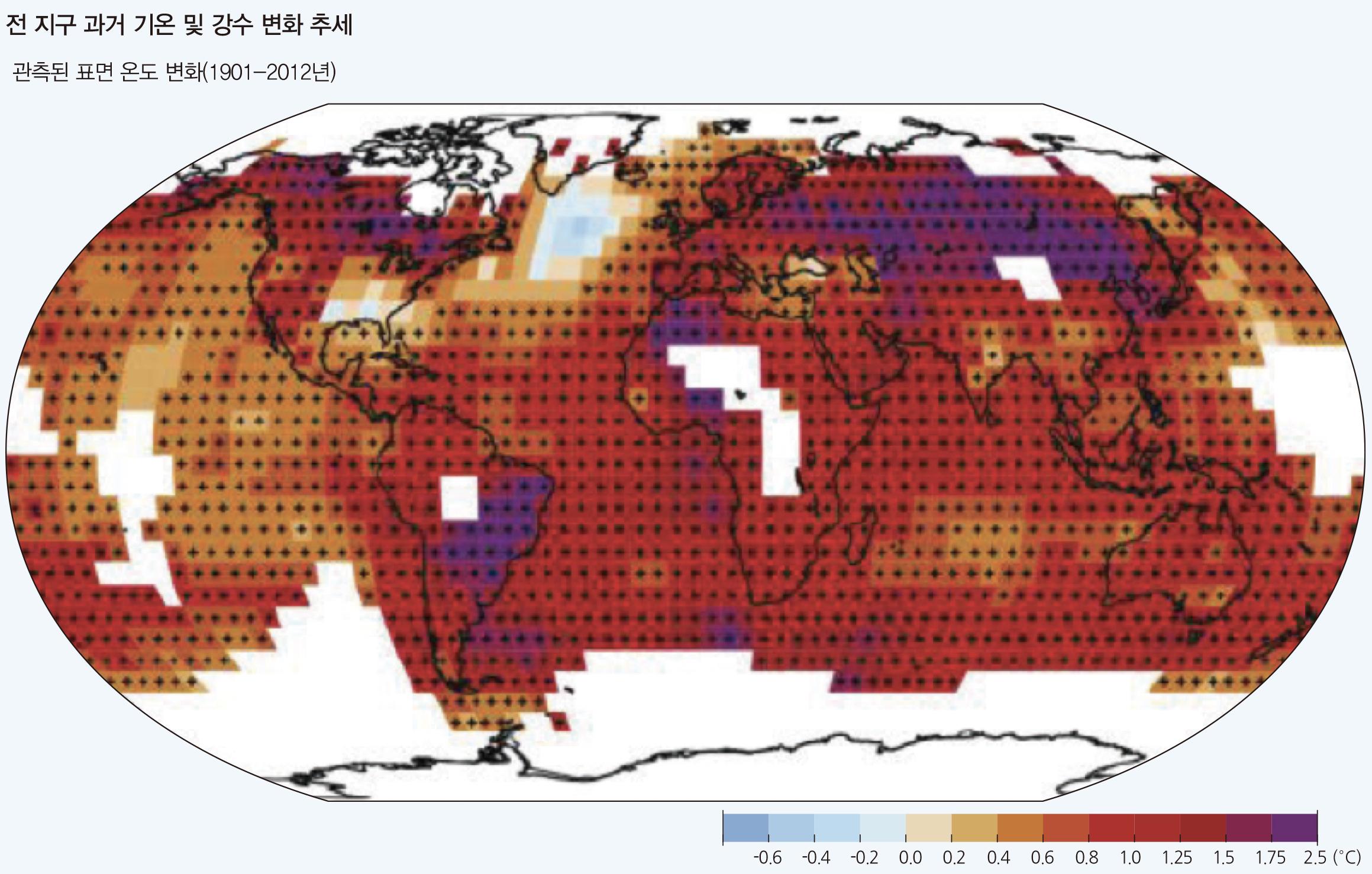 전 지구 과거 기온 및 강수 변화 추세