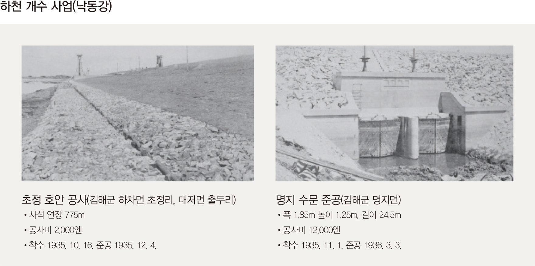 하천 개수 사업(낙동강)
