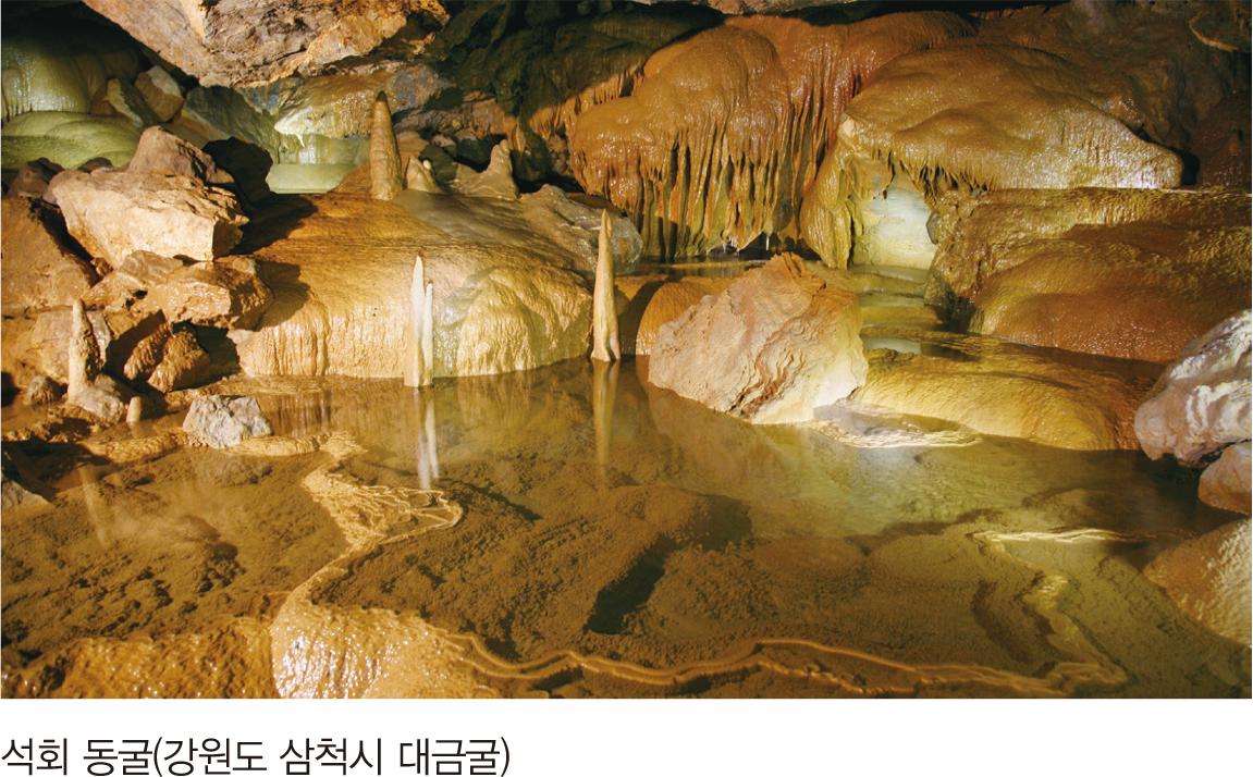 석회 동굴(강원도 삼척시 대금굴)