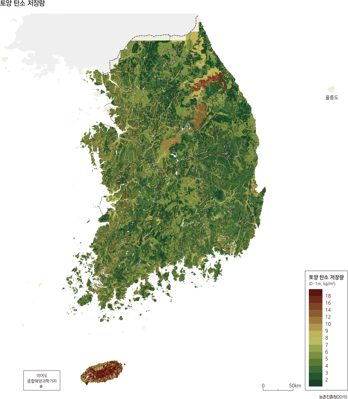 토양 탄소 저장량