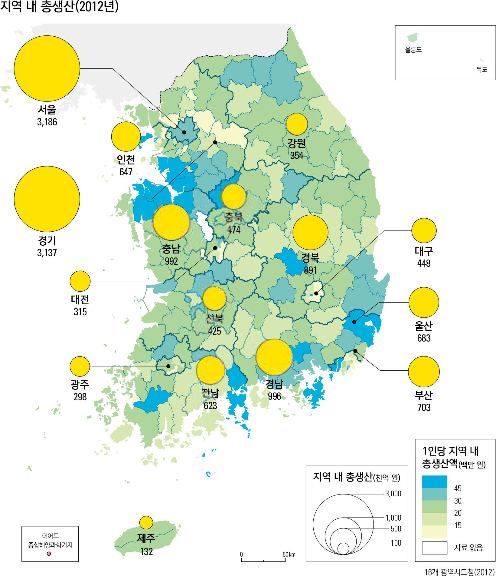 지역 내 총생산(2012년)