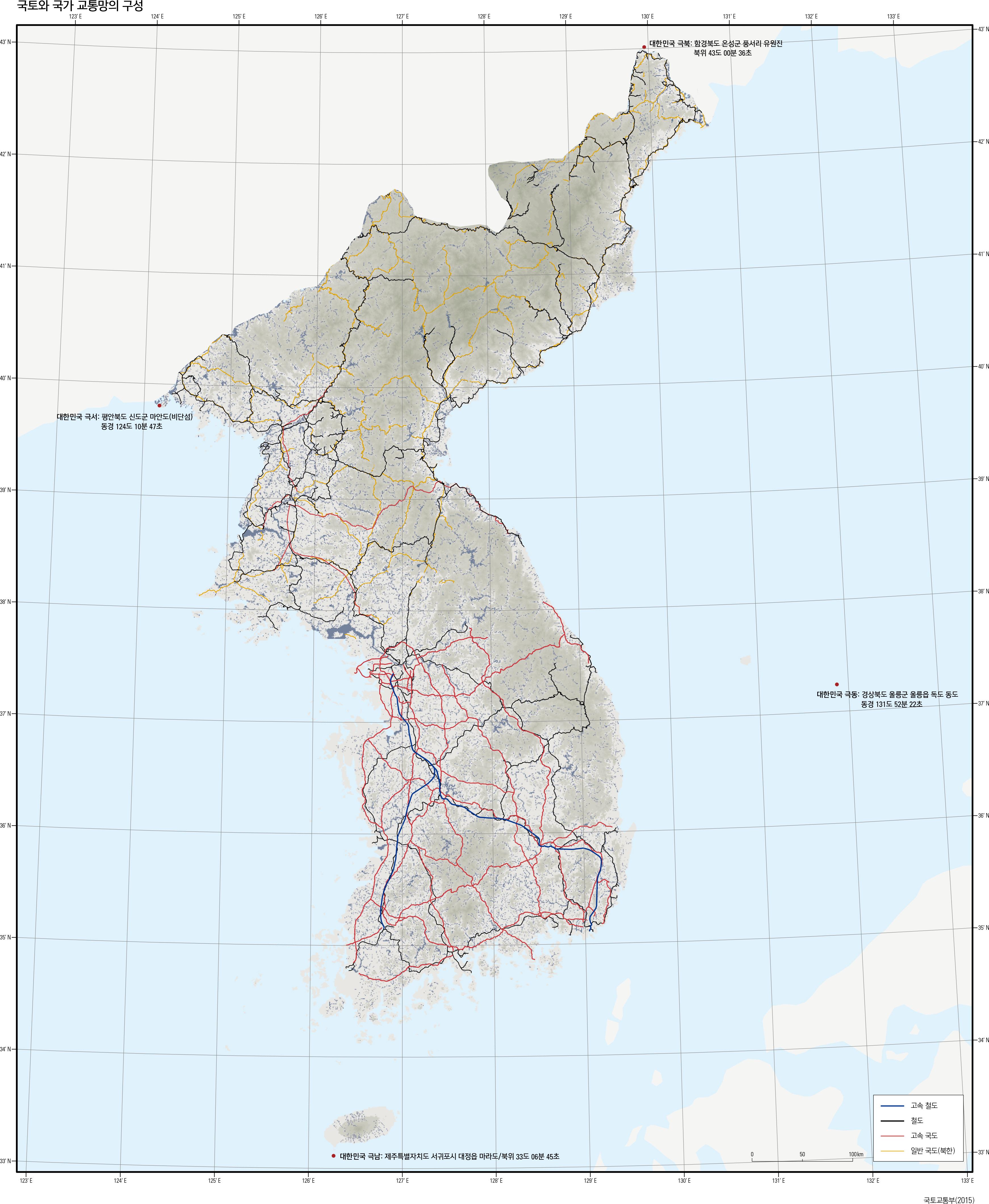 국토와 국가 교통망의 구성