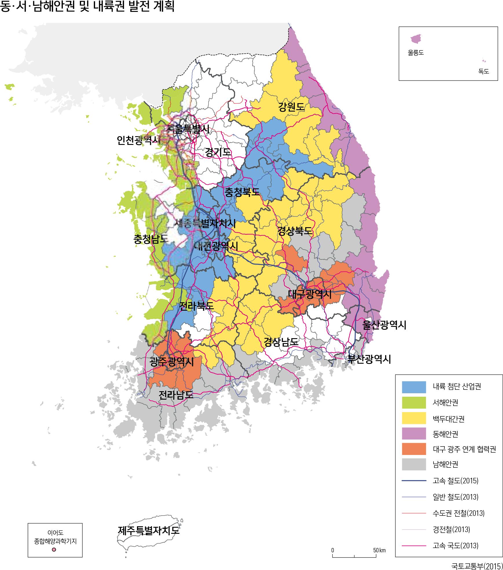 동·서·남해안권 및 내륙권 발전 계획