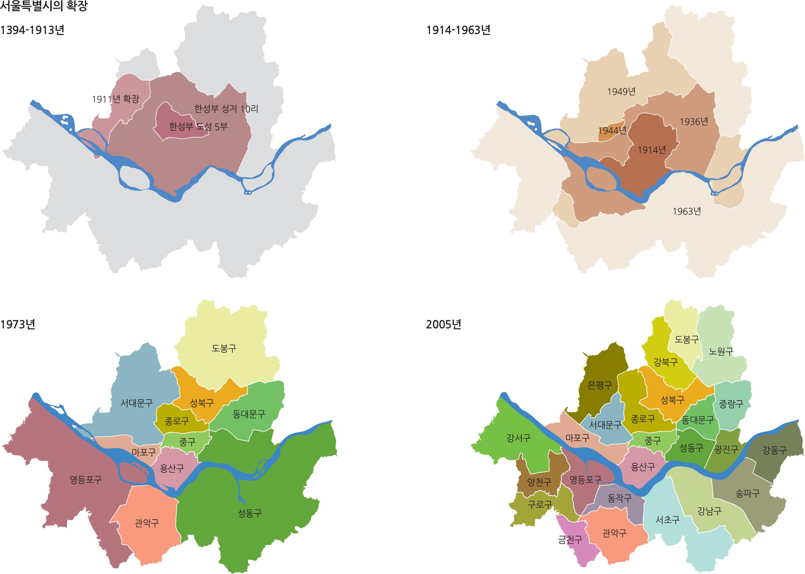 서울특별시의 확장