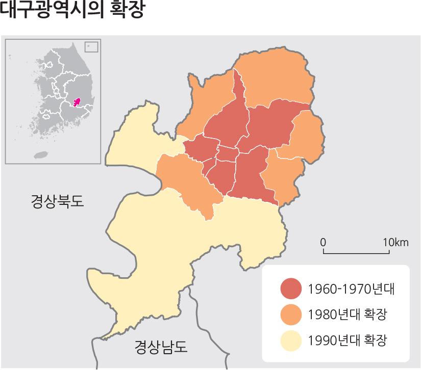 대구광역시의 확장