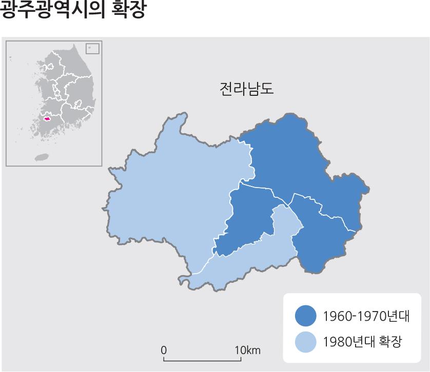광주광역시의 확장