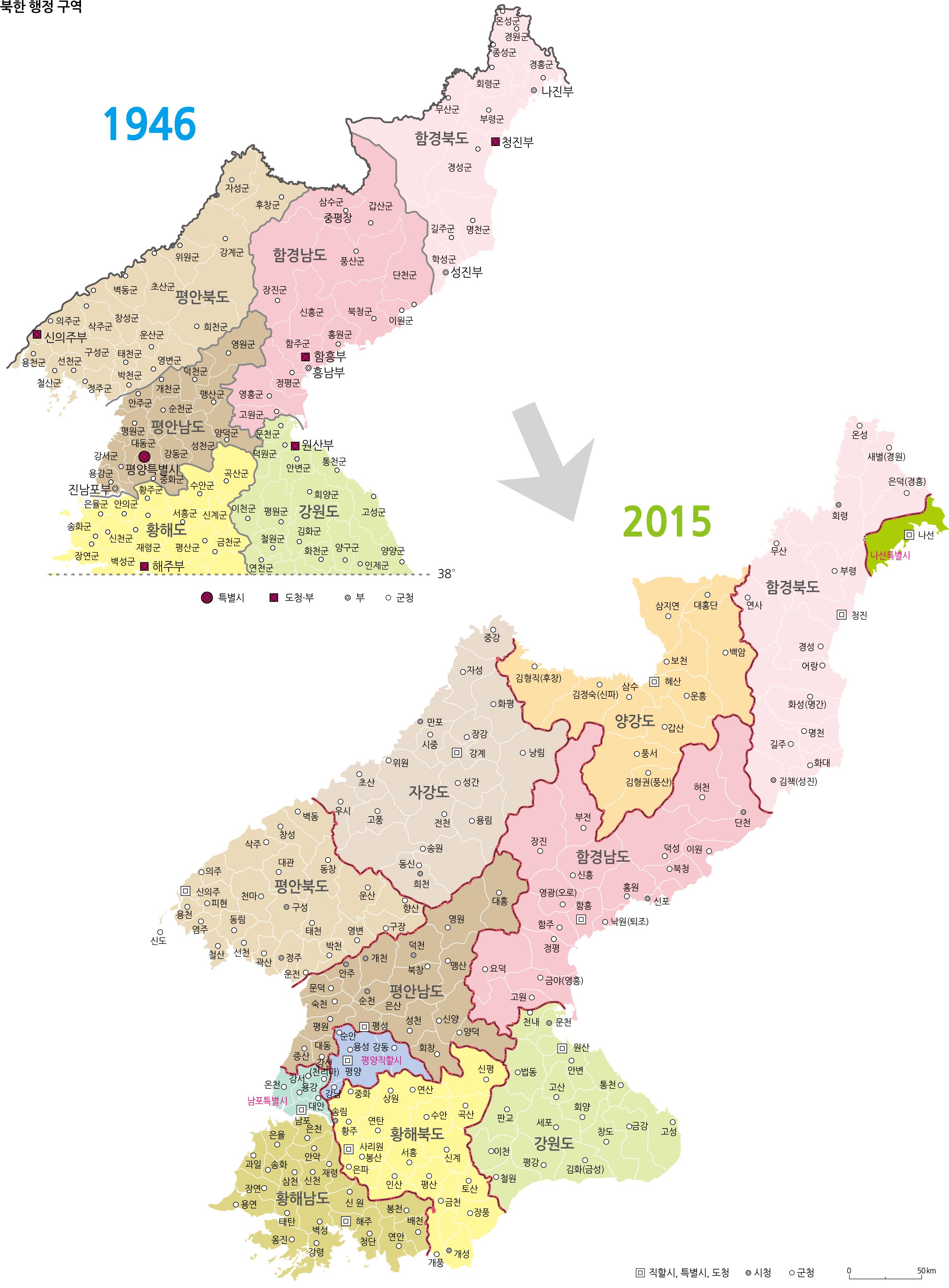 북한행정구역