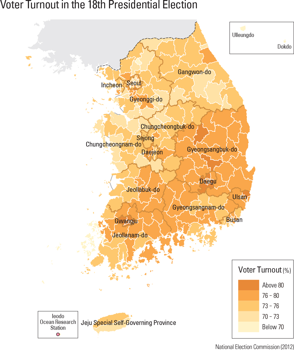 Voter Turnout in the 18th Presidential Election