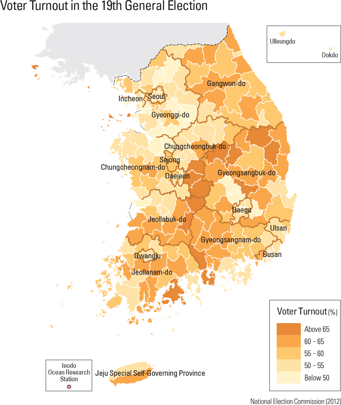 Voter Turnout in the 19th General Election
