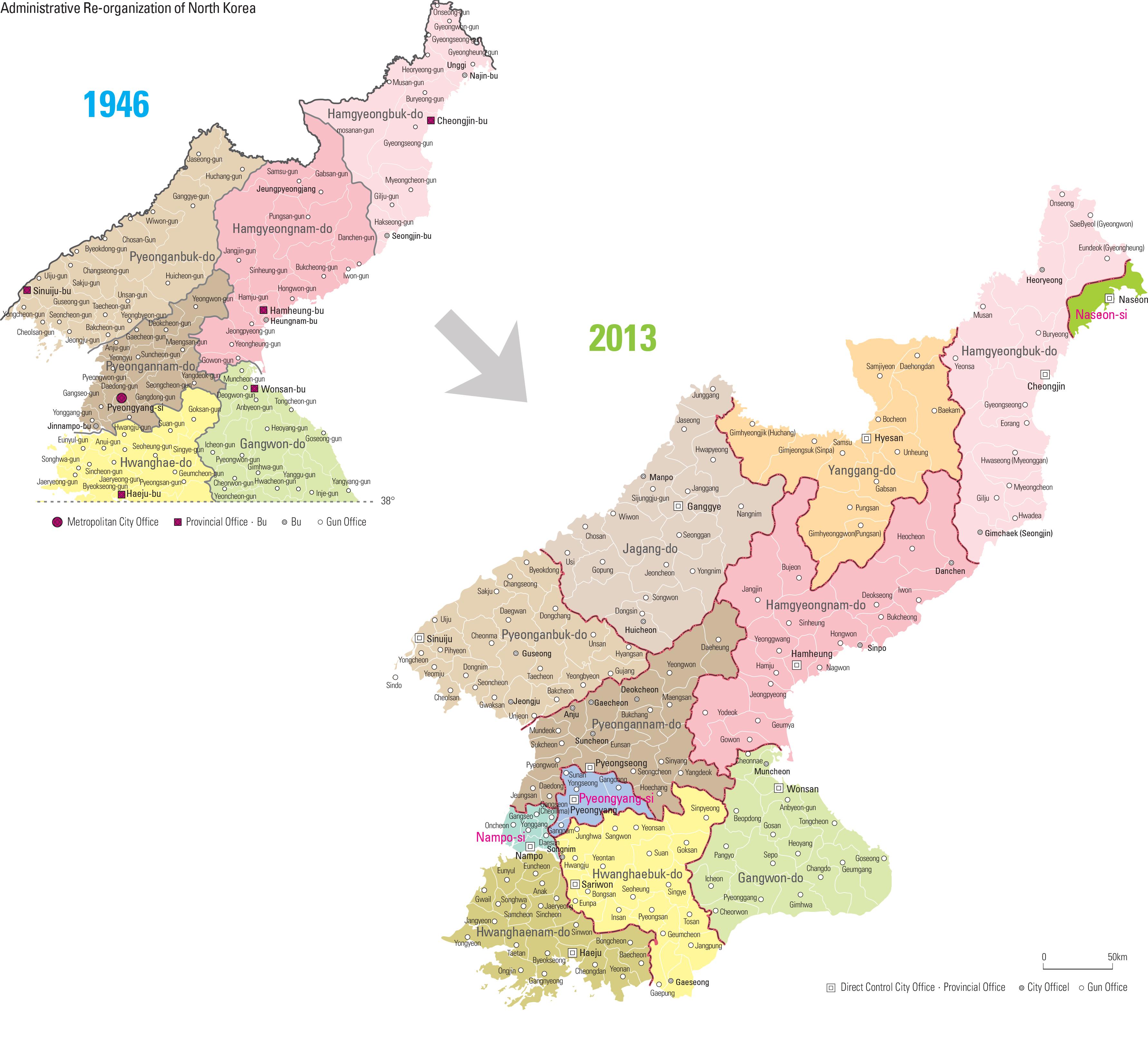 Administrative Re-organization of North Korea