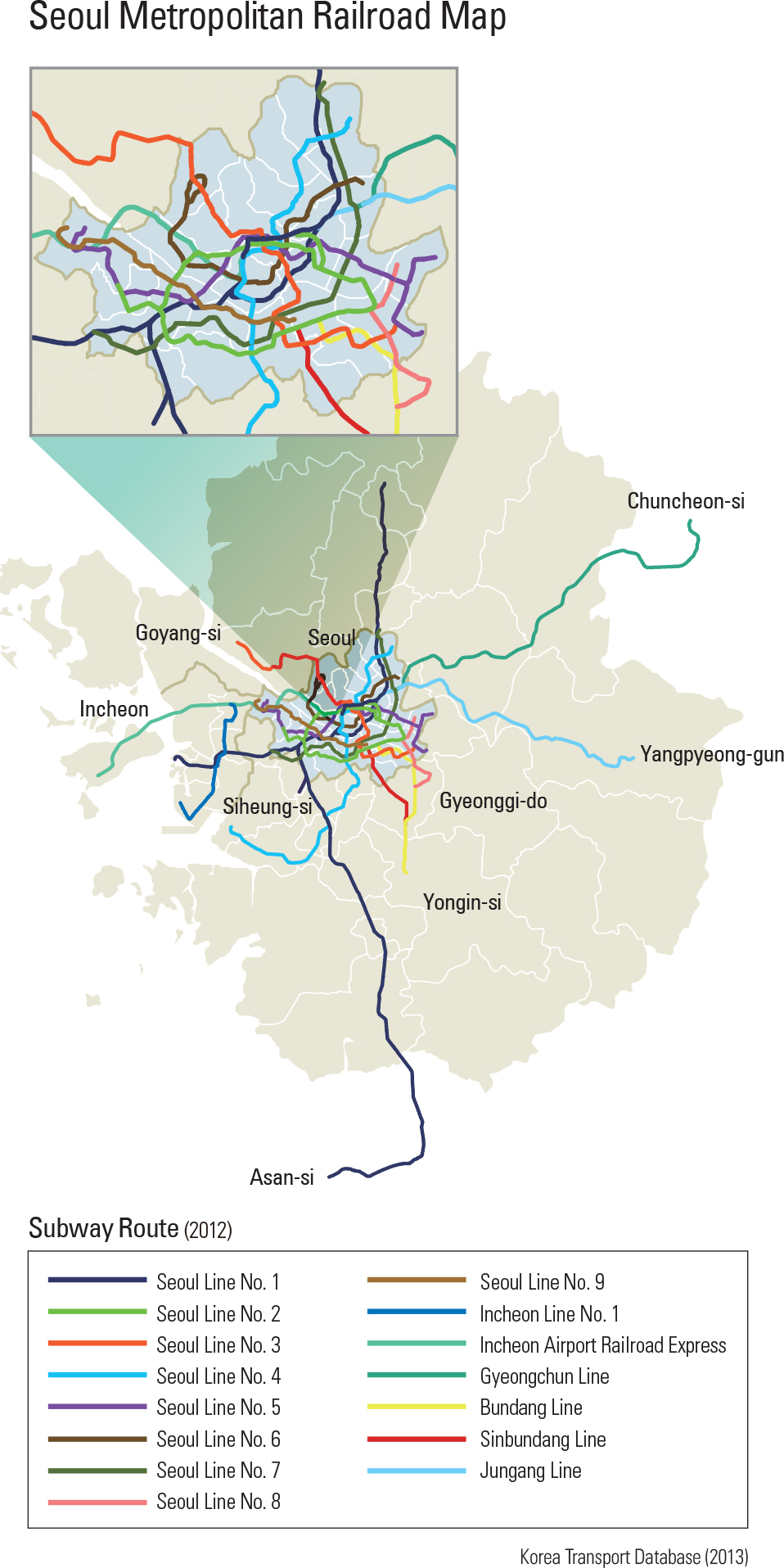 Seoul Metropolitan Railroad Map