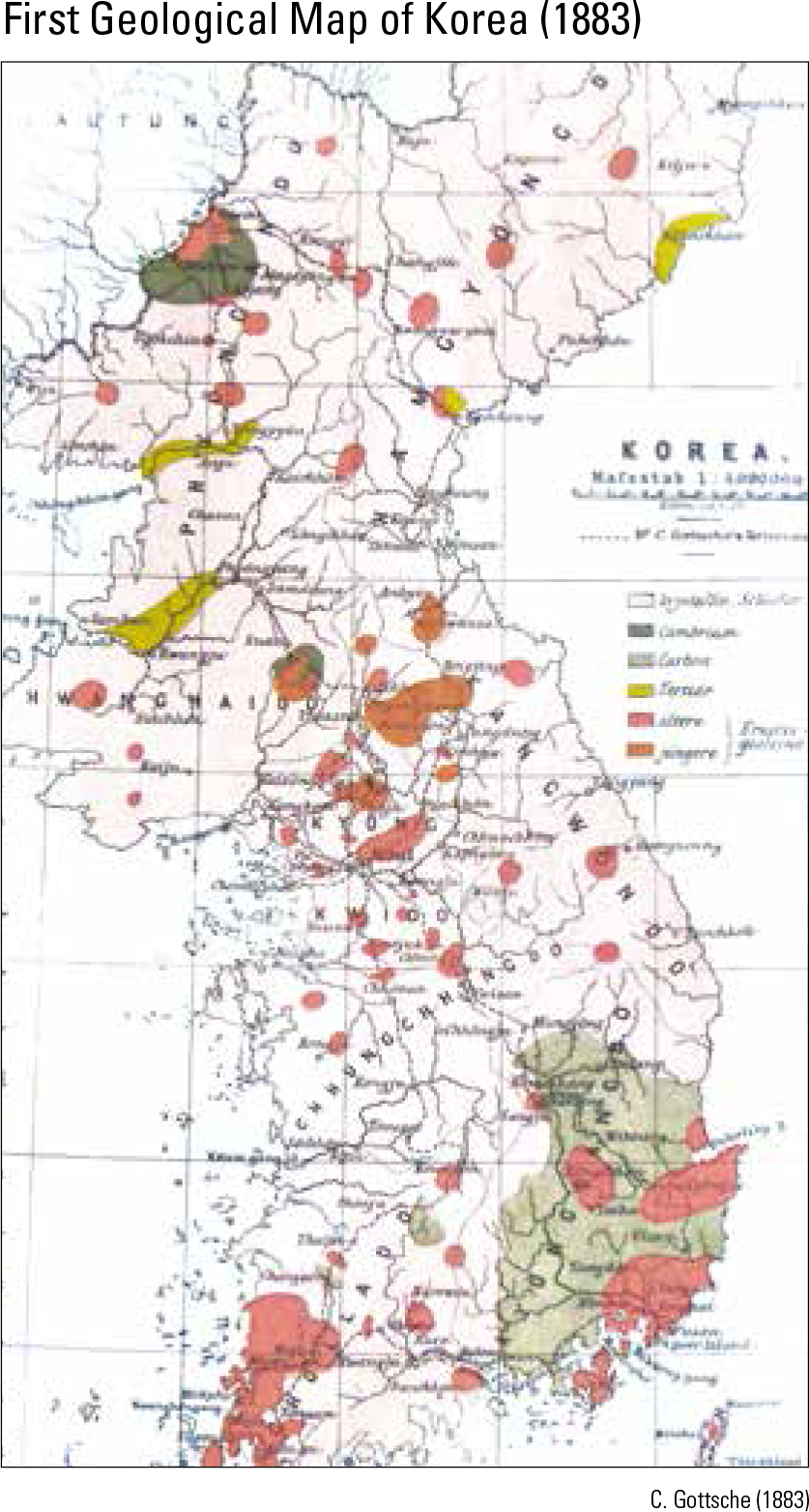 First Geological Map of Korea (1883)