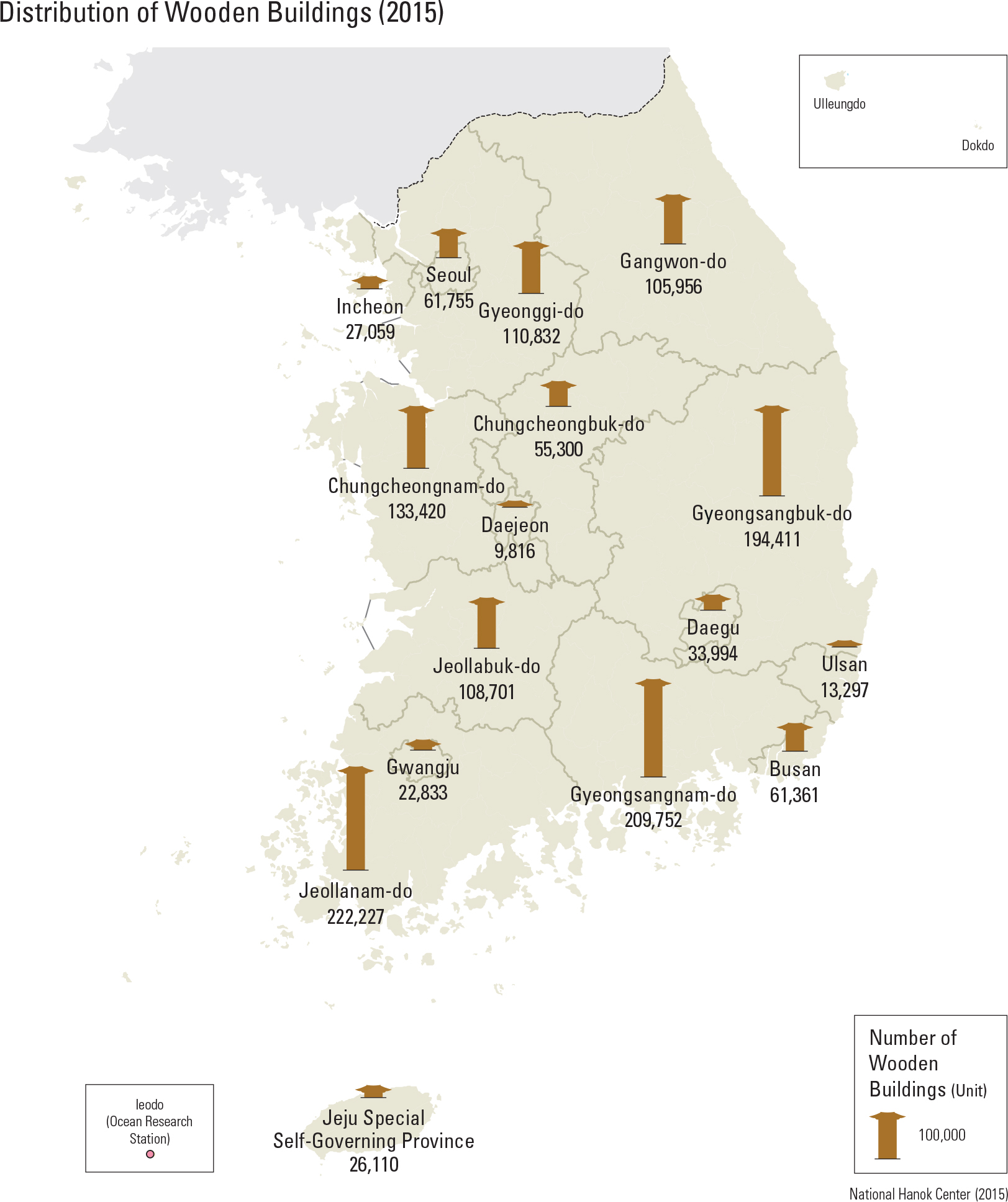 Distribution of Wooden Buildings (2015)