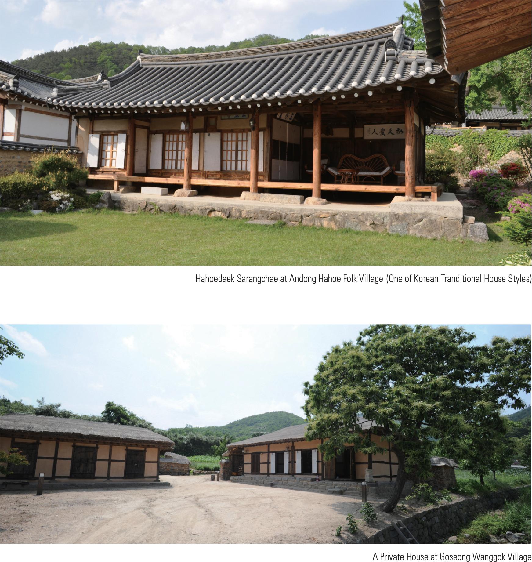 Hahoedaek Sarangchae at Andong Hahoe Folk Village (One of Korean Tranditional House Styles)<p>A Private House at Goseong Wanggok Villa