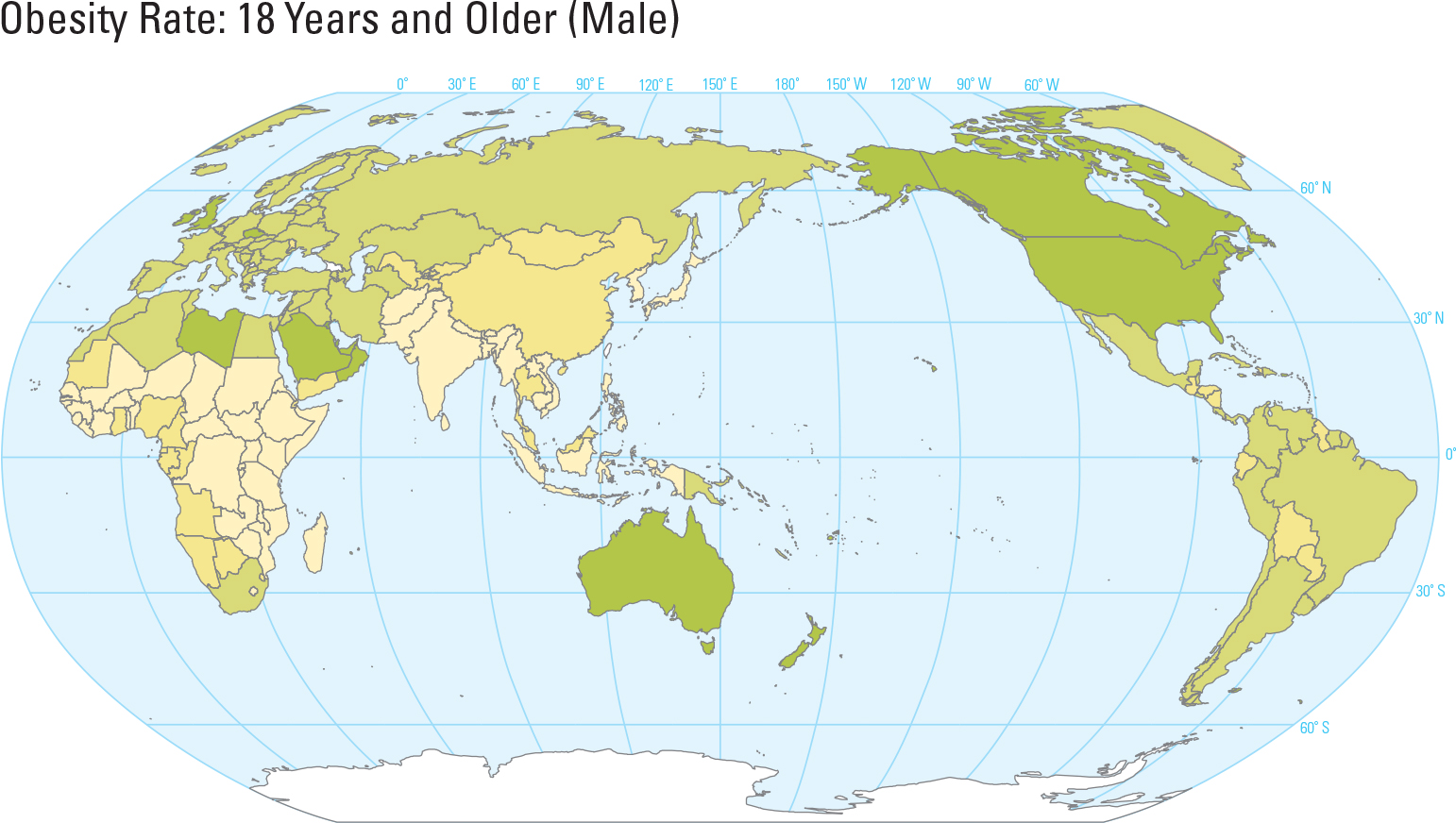 Obesity Rate: 18 Years and Older (Male)