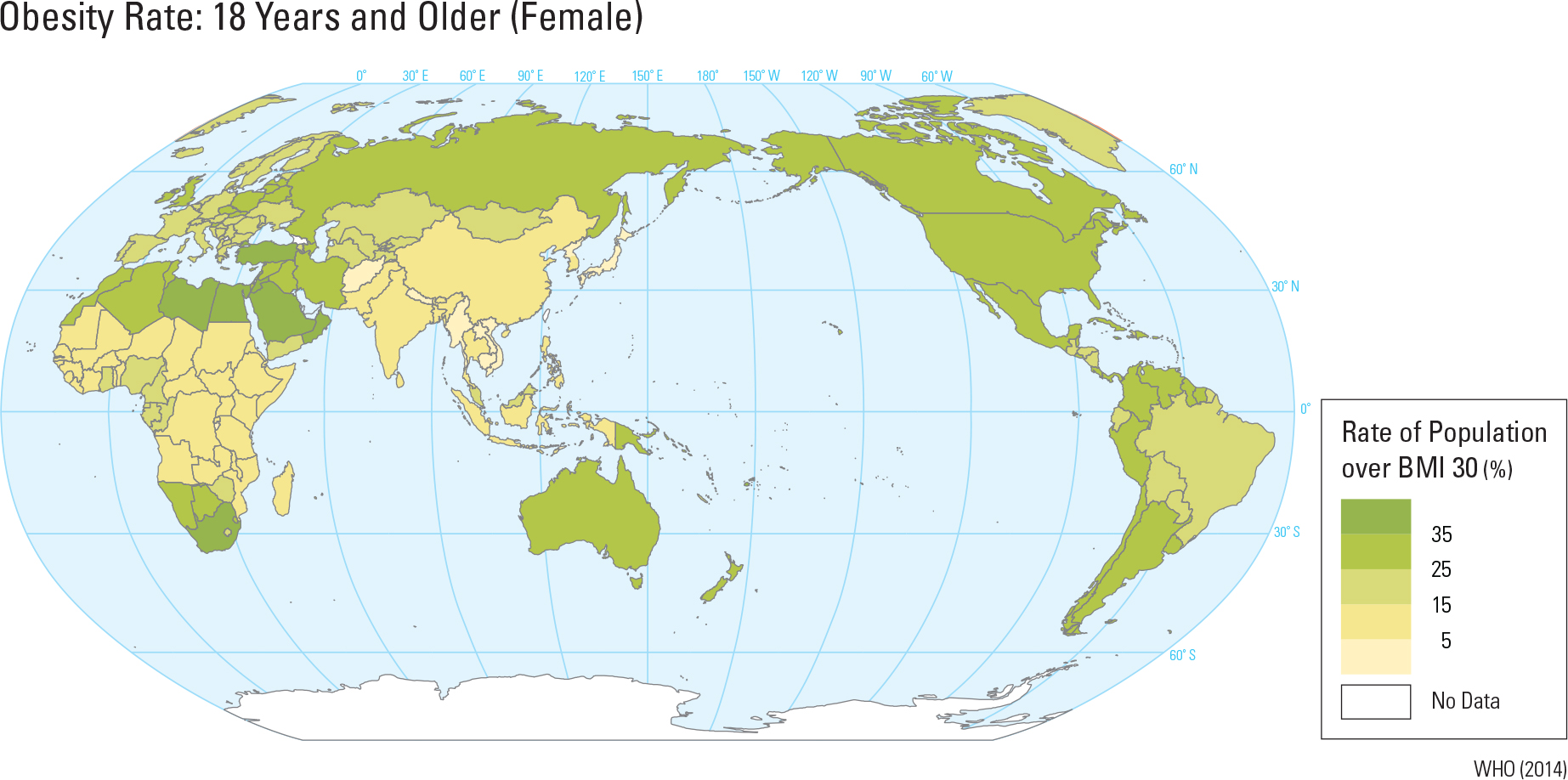 Obesity Rate: 18 Years and Older (Female)